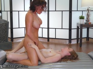 AllGirlMassage Krissy Lynn Oils Friend & Makes Squirts on Her