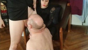 Beth Kinky - Domina help her bf to facefuck her father's mouth hard pt1 HD