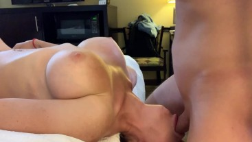 Fitness trainer facefucked upside down