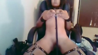 Horny slave eats her own cum teaser (join my fan club for full videos!)