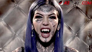 HO HUNTERS – Tattooed ghost Amber Luke wants to fuck