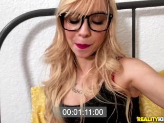 RealityKings Blonde teen Kenzie Reeves takes a huge cock up her ass Kenzie Reeves