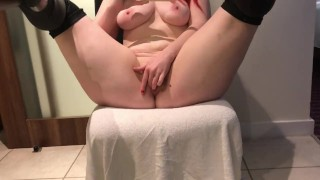 chubby british pawg jaye rose fingers hot shaven twat in hotel mirror