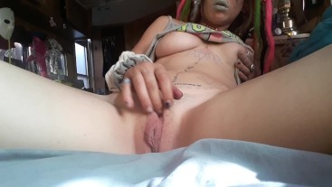 xxxtra small slut plays with her tight wet pussy
