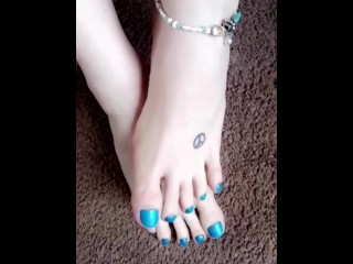 Metallic Blue Toes Compilation Fall