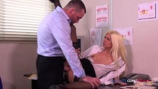 Blond dentist fucks her patient