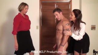 Rachel Steele CustomDavidM01 - Two MILF draining big muscular cub