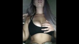 Sexy Teen Takes Off Sports Bra