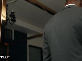 Preview 2 of Deeper. BBC Fucks Karla Kush while Cuckold Husband Watches