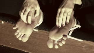 TICKLING HALLOWEEN! EVIL MILF LOVES TO TICKLE AND TORTURE MALE SOLES