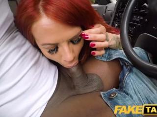 Fake Taxi Busty sexy redhead Jennifer Keelings wants black cock
