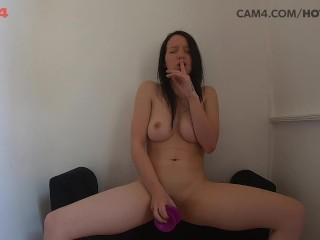 Amateur Teen Takes Dildo Up The Ass CAM