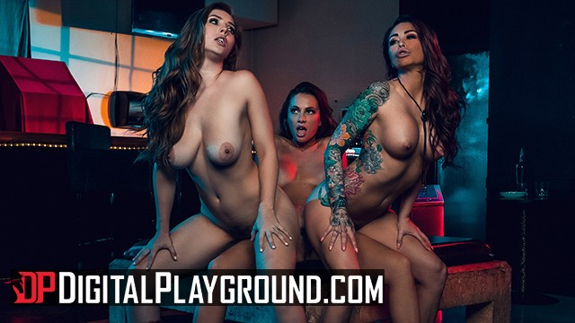 Biker rally tits - Digital playground - lesbian biker threesome in the grindbar