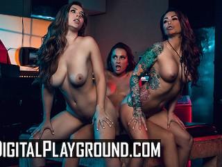 Digital Playground Lesbian biker threesome in the grindbar Abigail Mac, Lena Paul, Monique Alexander