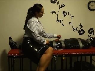 Lady Ezada Ruining The Orgasms Of The Chaste Mummified Slave Ezada Sinn