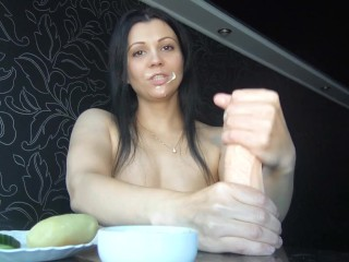 my breakfast is a big cock and tea