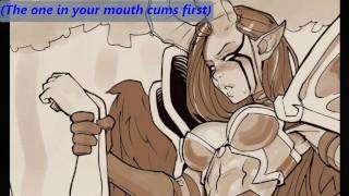 Hentai Futa JOI vol. 2 (Anal hero) [Commission]