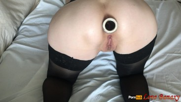 Amateur Anal Stretching and Masturbation, Open Asshole Close Up