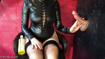 Femdom Gloryhole Edging - Huge Cumshot On Nylons