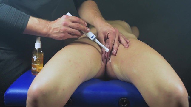 Naked women playing with toys Multi orgasms clit massage-post orgasm torture