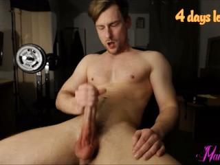 masturbating my rock hard cock and cumming hard in my face