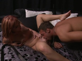 Ginger young slut enjoy a nice cock