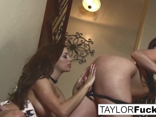 Taylor and her even bustier friend Aria Giovanni main image