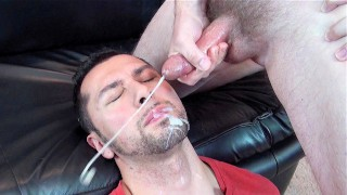 Straight Turkish Dude's 1st Taste of Cum – Seth Chase Shoots Massive Load