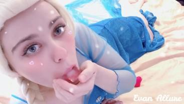 Elsa Sucking and Fucking Ice Cubes