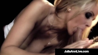 Busty Cougar Julia Ann Puffs On Cigar & A Dick On Broadway!