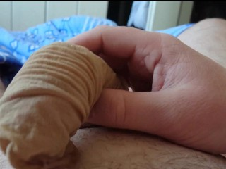Sperma im Feinstrumpf