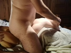 Exclusive intense MMF threesome with sex dolls. Orgasmic
