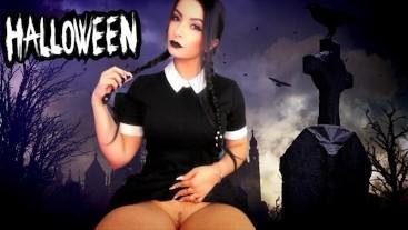 Halloween - WEDNESDAY ADDAMS DRIVING YOU CRAZY TEASING - SEX MACHINE
