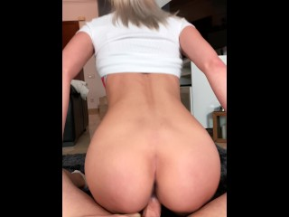 Hot cock ride with creampie by my Stepsister's husband