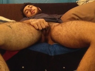 FTM Daddy Jacking Off