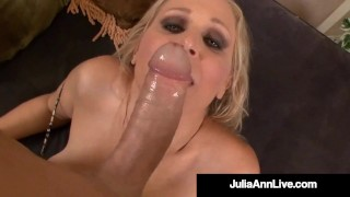 Sex Bomb Cougar Julia Ann Takes A Cock In Her Mature Muff!