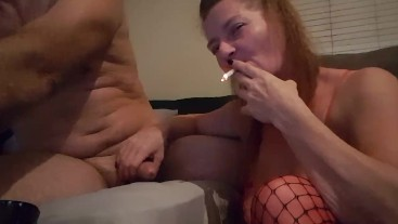 Smoking & Rubbing Cock