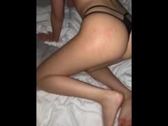 POV Petite Perfect Ass Blonde Takes Boyfriends Thick BBC
