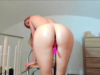 Redhead Big Tits Fingering Wet Pussy Hot Solo