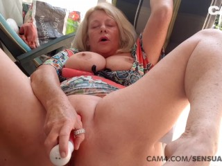 Mature year old MILF Squirts All Over Her Dildo CAM