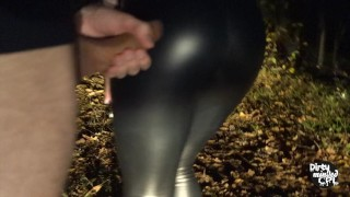Night dogging sucking strangers cocks in the woods