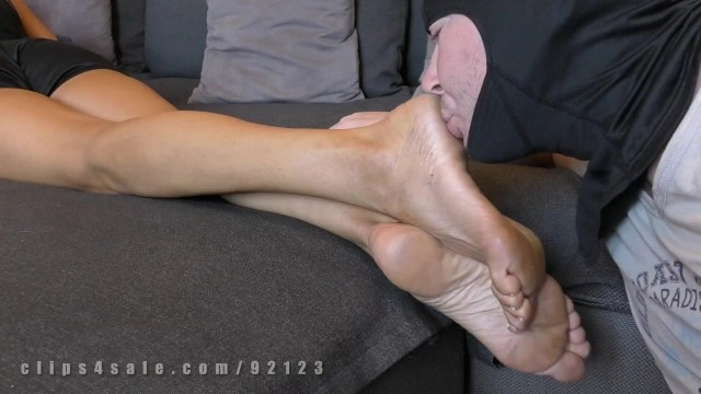 Licking a dirty ass - Saed dominat milf, dirty shoes and feet worship