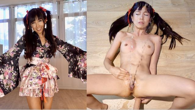 Over the river gay Super cute geisha squirts all over face gets creampie - 4k