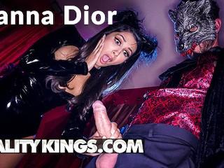 Reality Kings - Kinky Leather Kitty Gianna Dior gets Halloween fucking
