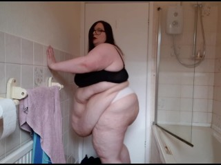 W FAT BODY BATHROOM NAUNESS THONG FUPA BELLY EXERCISE