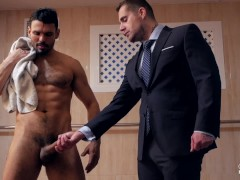 Hot Stud Jean Franko Fucking Isaac Eliad in a pool