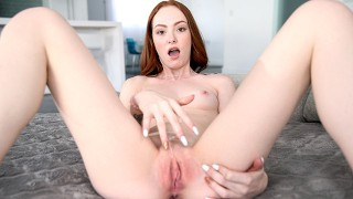 FIRST SCENE! Adorable Redhead 19YO Get Her Creamy Teen Pussy Fucked Rough