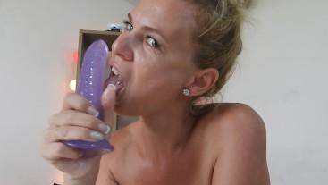 Dildo Blowjob Tease/Deepthroat Practice