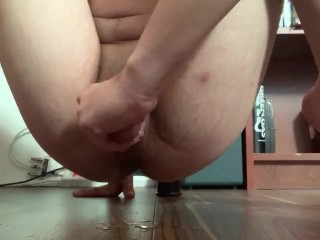 Virgin cock squirts while edging