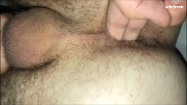 Friend fingering my tight ass after filling me with cum